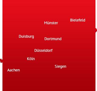 NRW-Karte